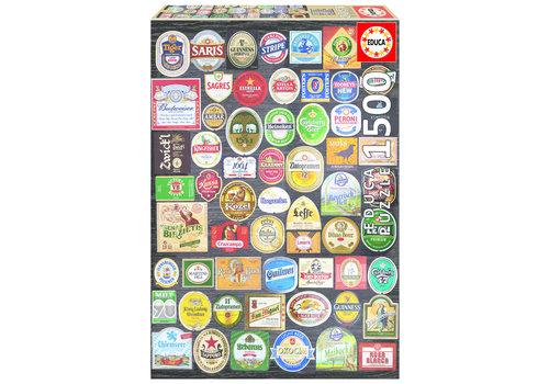Bier etiketten collage - 1500 stukjes