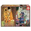 Educa Klimt - 2 x 1000 stukjes legpuzzel