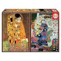 thumb-Klimt - 2 x 1000 pièces puzzle-1