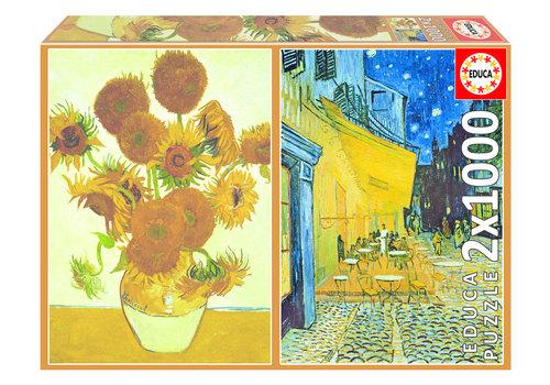Educa Van Gogh - 2 x 1000 stukjes puzzel