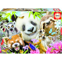 thumb-Black-eyed friends selfie - puzzle of 300 pieces-2