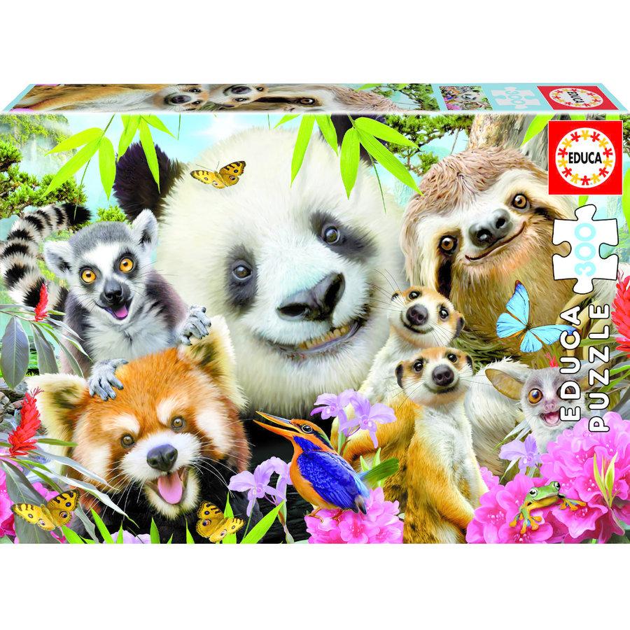 Zwart-oog vrienden selfie   - puzzel van 300 stukjes-2