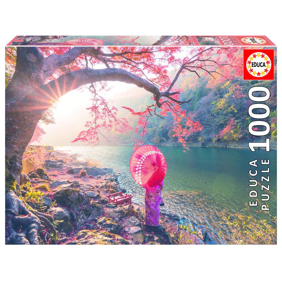 Lever de soleil à Japon - 1000 pièces-1