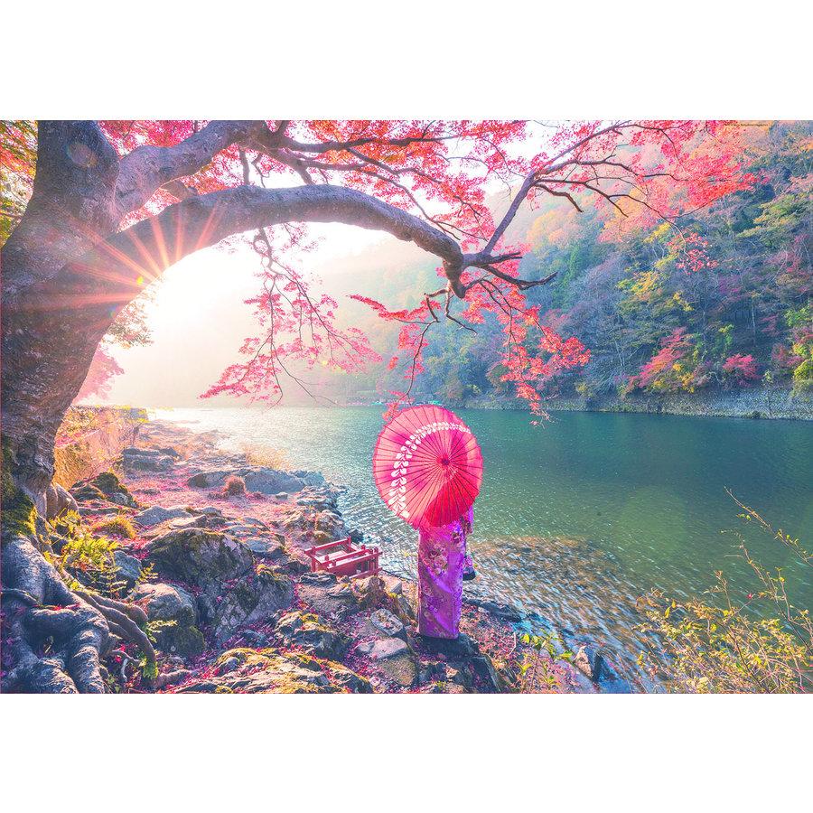 Lever de soleil à Japon - 1000 pièces-2