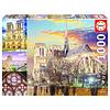 Educa Collage van de Notre Dame - puzzel 1000 stukjes