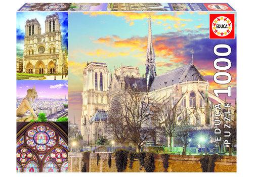Educa Collage van de Notre Dame - 1000 stukjes