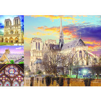 thumb-Collage van de Notre Dame - puzzel 1000 stukjes-2