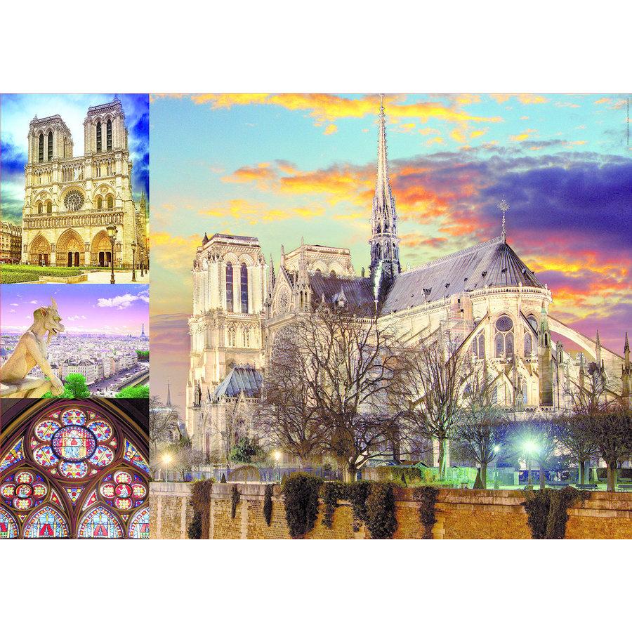 Collage van de Notre Dame - puzzel 1000 stukjes-2
