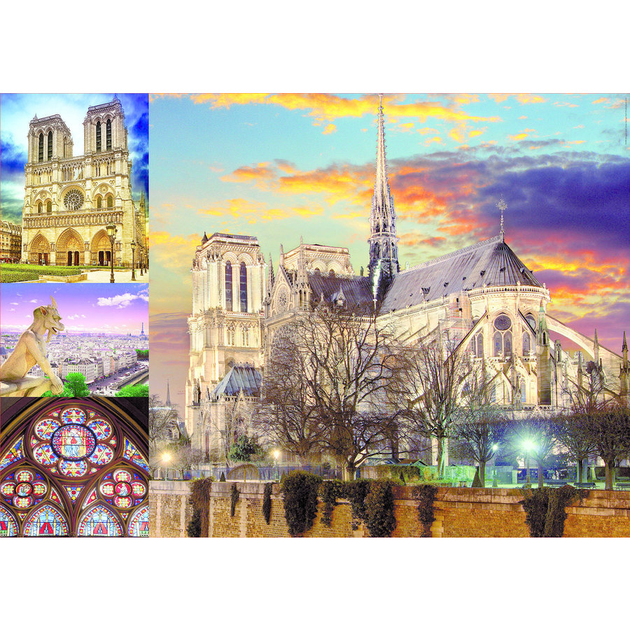 Notre Dame collage - 1000 pieces-2