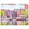 Educa Dansende huizen in Amsterdam - puzzel 1000 stukjes