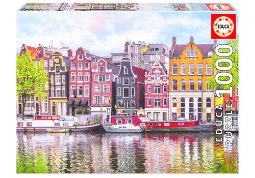 Dansende huizen in Amsterdam - 1000 stukjes