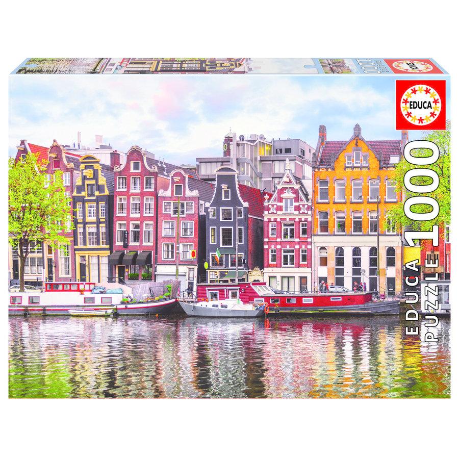 Dansende huizen in Amsterdam - puzzel 1000 stukjes-1