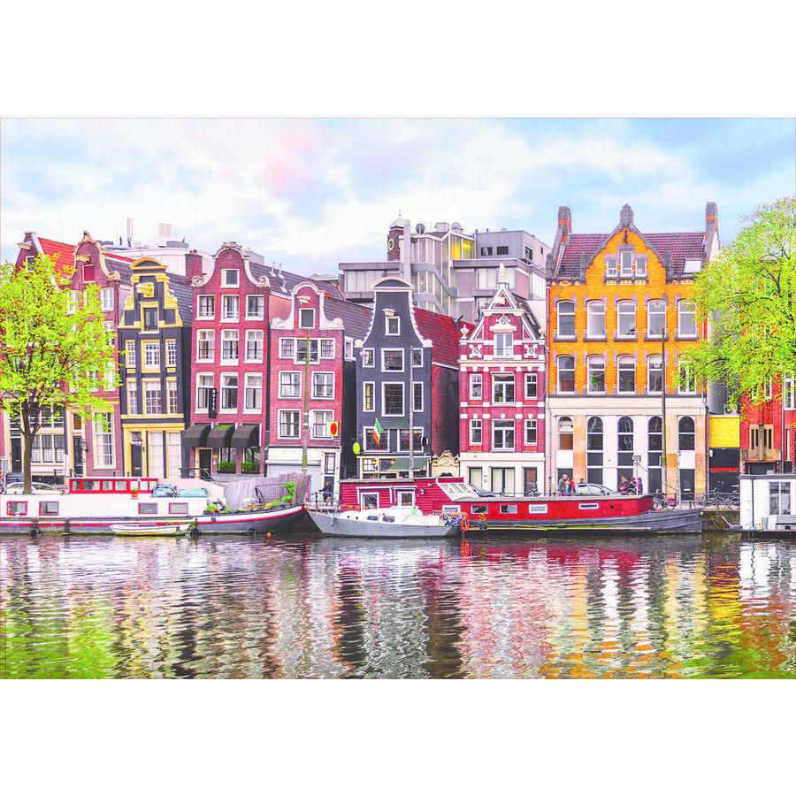 Dansende huizen in Amsterdam - puzzel 1000 stukjes-2