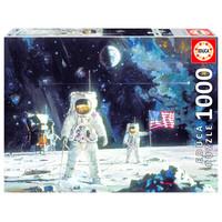 thumb-Eerste man op de maan - puzzel 1000 stukjes-1