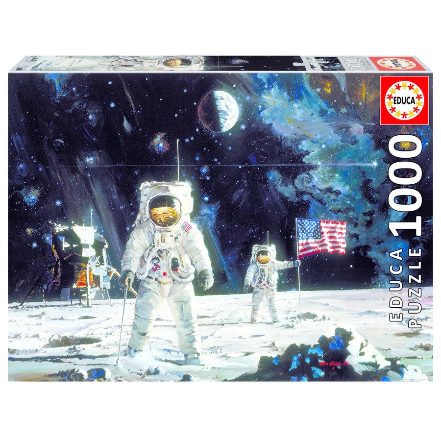 Eerste man op de maan - puzzel 1000 stukjes-1