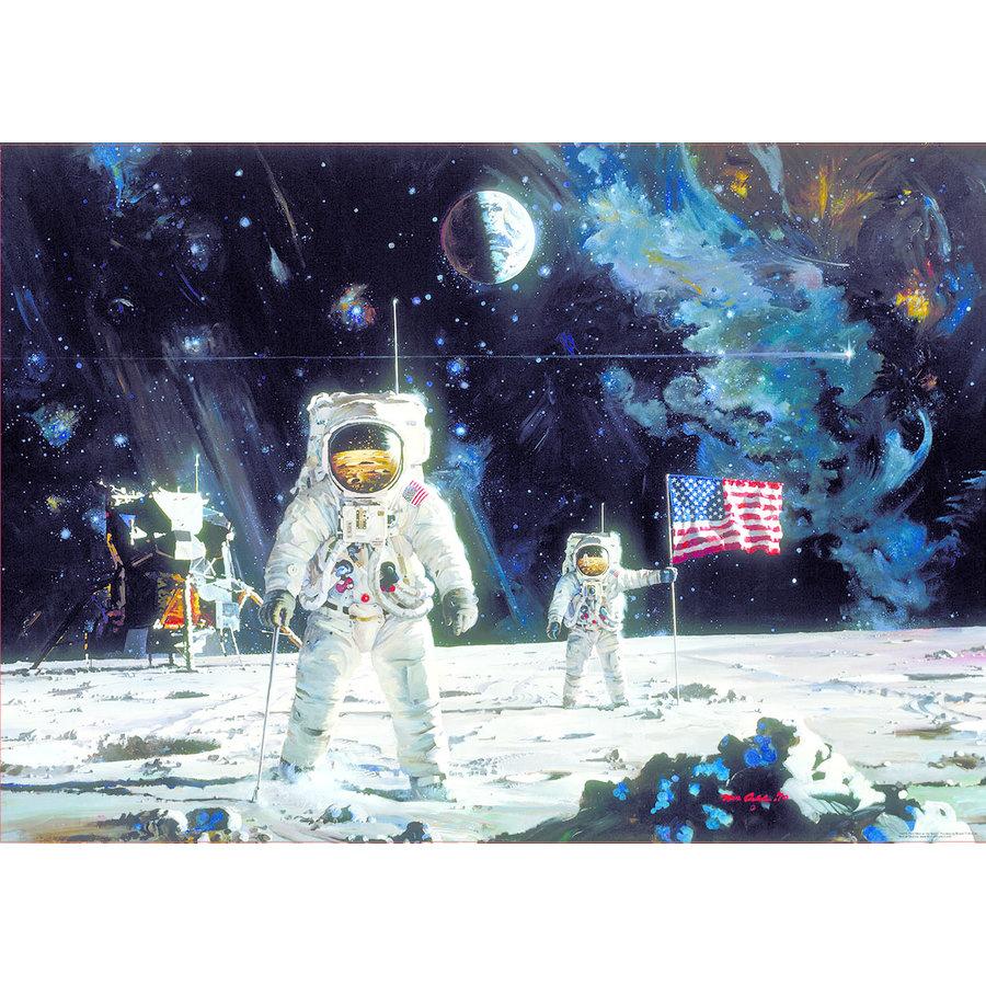 Eerste man op de maan - puzzel 1000 stukjes-2