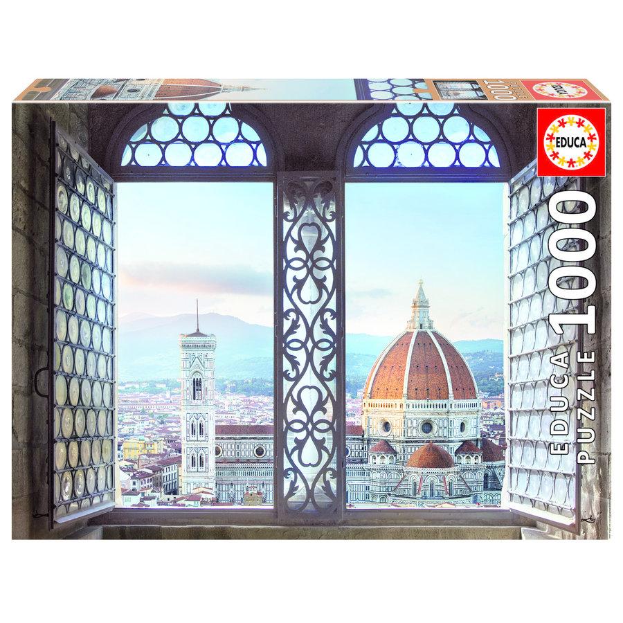 Zicht op Firenze - puzzel 1000 stukjes-1