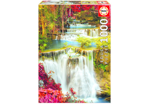 Educa Waterfall in deep forest - 1000 pieces