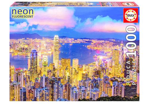 Hong Kong Skyline - Glow in the Dark- puzzel 1000 stukjes