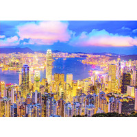 thumb-Hong Kong Skyline - Glow in the Dark - puzzle 1000 pieces-3