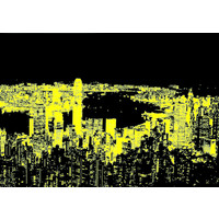 thumb-Hong Kong Skyline - Glow in the Dark - puzzel 1000 stukjes-2