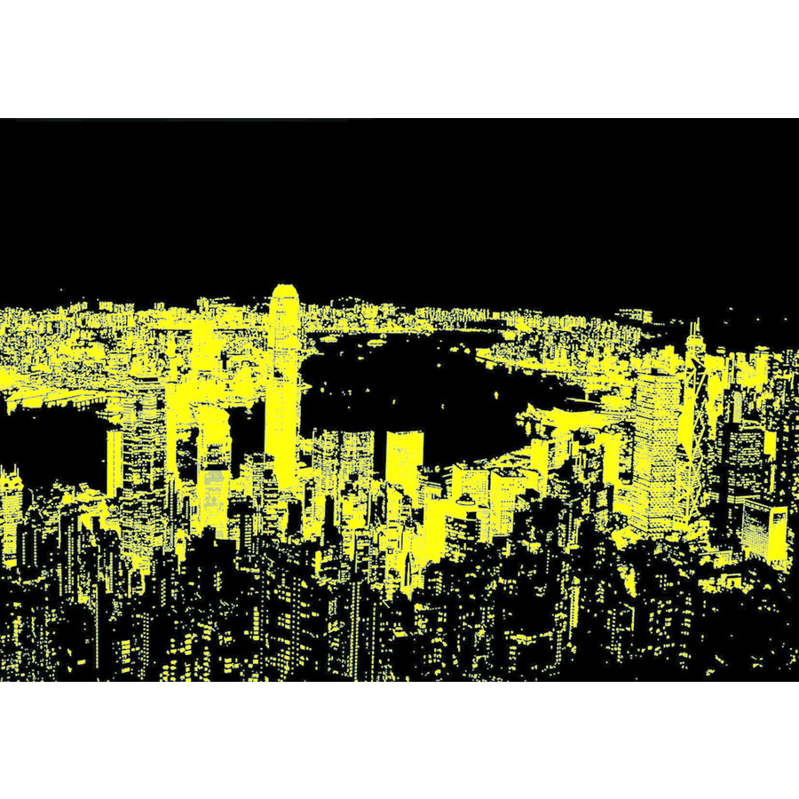 Hong Kong Skyline - Glow in the Dark - puzzle 1000 pieces-2