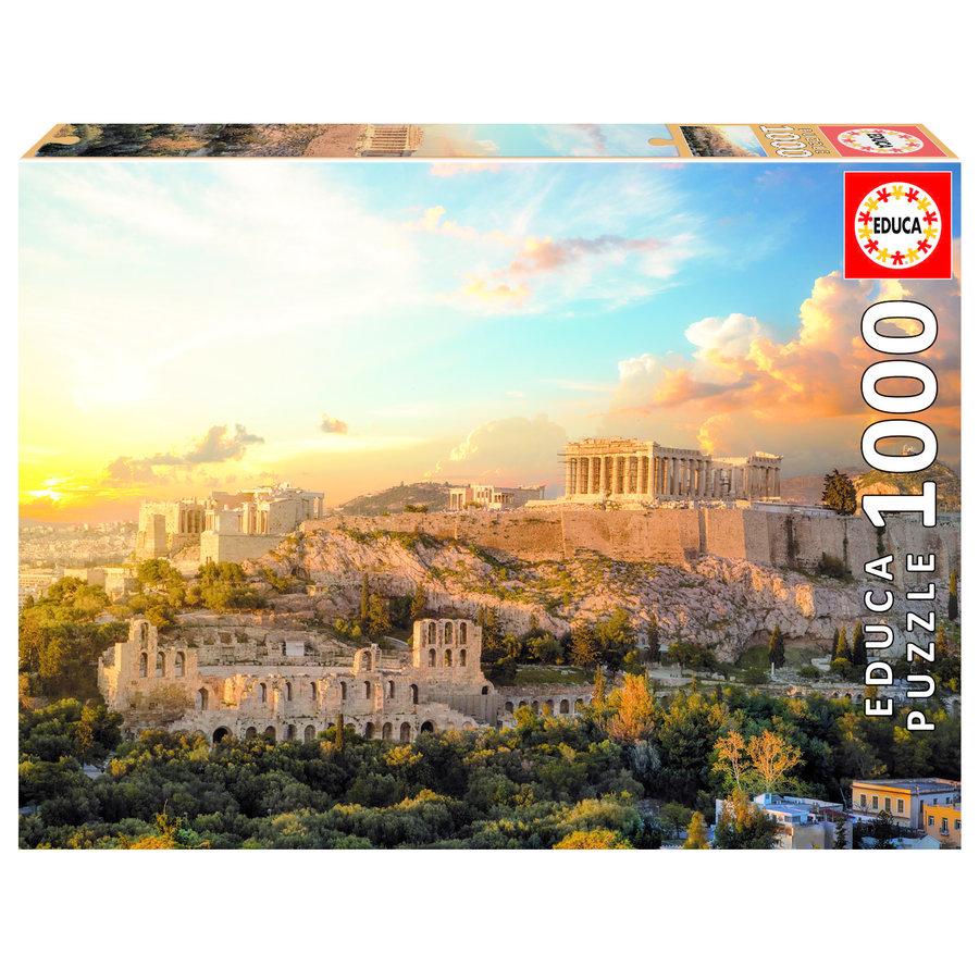 De Acropolis in Athene - puzzel 1000 stukjes-1