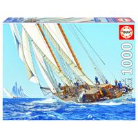 thumb-Zeilboot op zee - puzzel 1000 stukjes-1