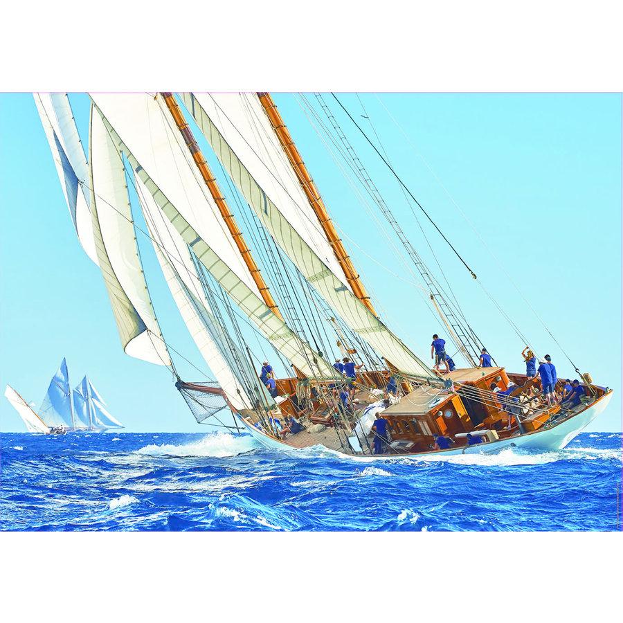 Zeilboot op zee - puzzel 1000 stukjes-2