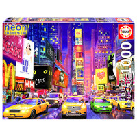 thumb-Times Square - Glow in the Dark - puzzel 1000 stukjes-1
