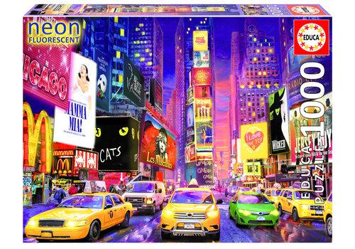 Educa Times Square - Glow in the Dark- puzzel 1000 stukjes