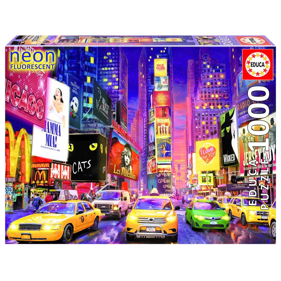 Times Square - Glow in the Dark - puzzel 1000 stukjes-1