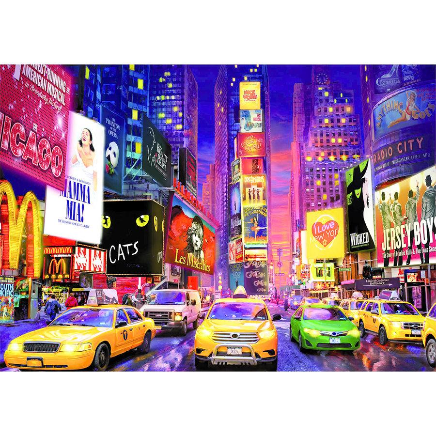 Times Square - Glow in the Dark - puzzel 1000 stukjes-3