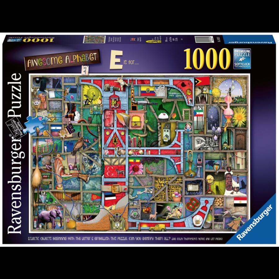 "Awesome Alphabet ""E&F"" - Colin Thompson - Jigsaw 1000 pieces-1"