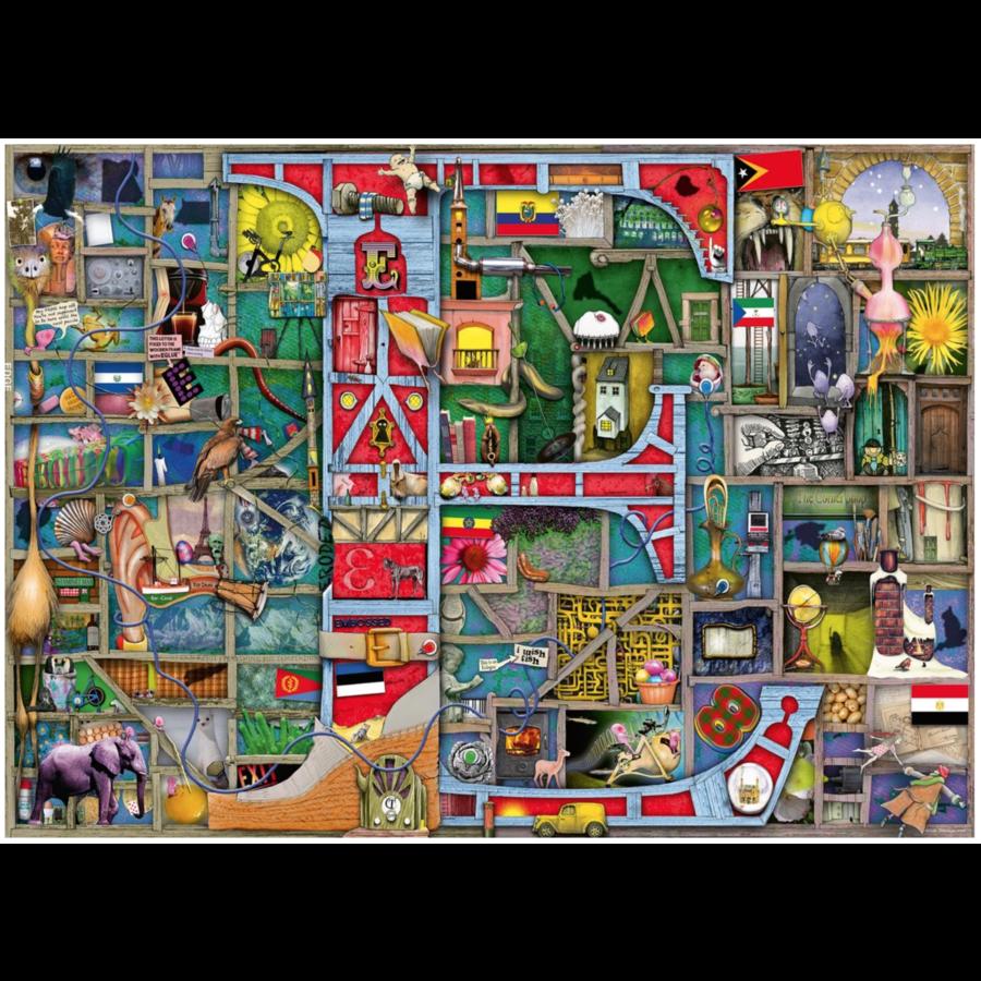 "Adembenemend Alfabet ""E&F"" - Colin Thompson - puzzel 1000 stukjes-2"
