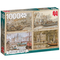 Kanaalboten - Anton Pieck - 1000 stukjes