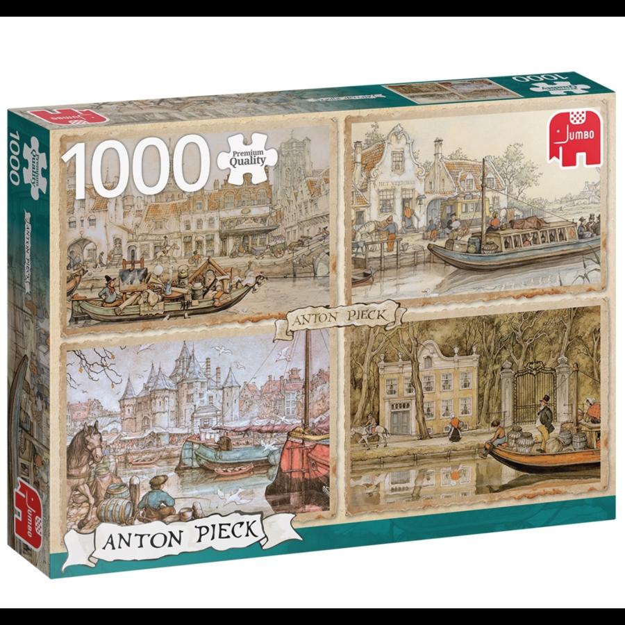 Kanaalboten - Anton Pieck - 1000 stukjes-1