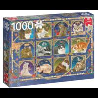 thumb-Kat horoscoop  - puzzel van 1000 stukjes-1
