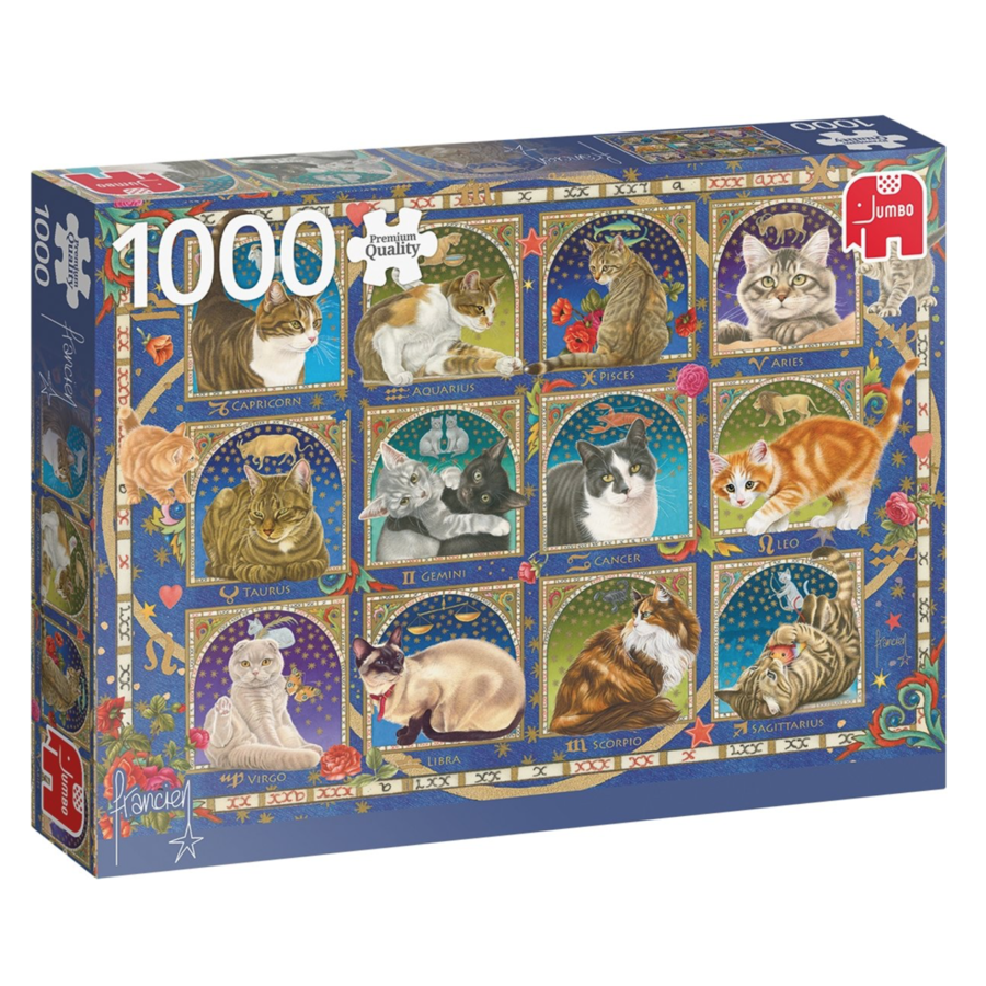 Kat horoscoop  - puzzel van 1000 stukjes-1