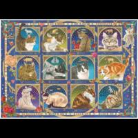 thumb-Kat horoscoop  - puzzel van 1000 stukjes-2