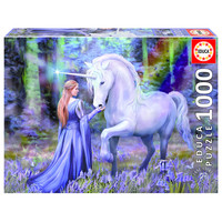 thumb-Bluebell Woods - Anne Stokes  - jigsaw puzzle of 1000 pieces-1