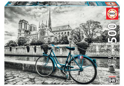 Fietsen bij de Notre Dame - 500 stukjes