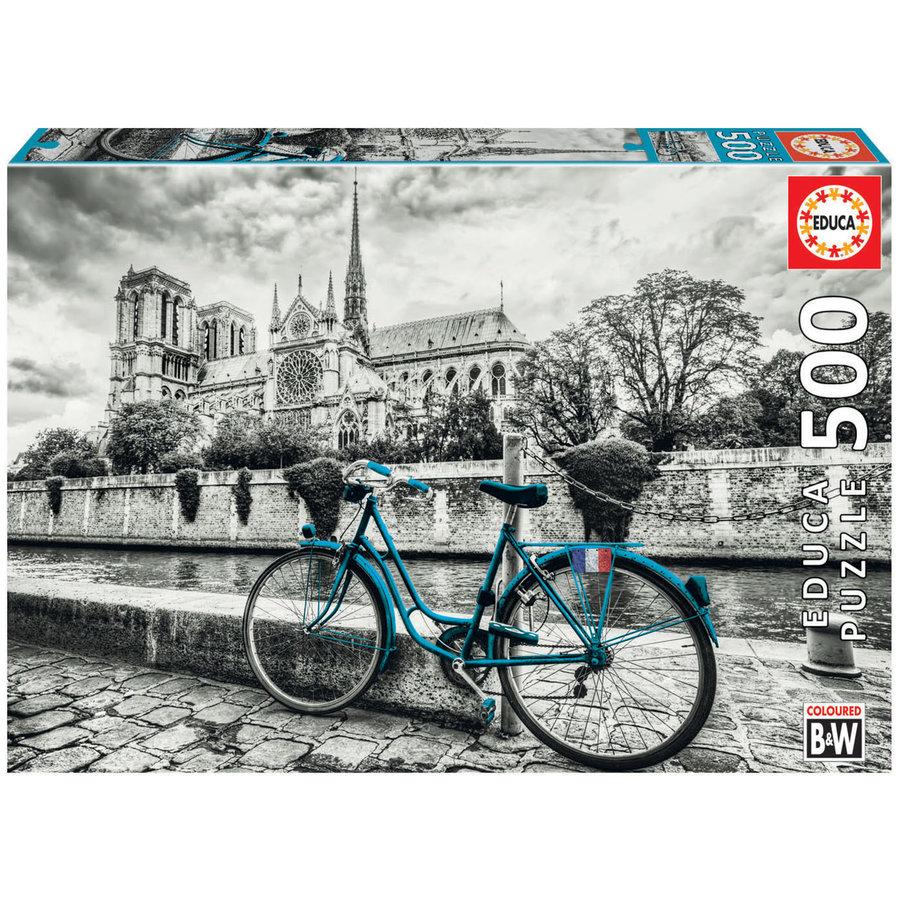 Bicyclette près de Notre Dame - puzzle de 500 pièces-1