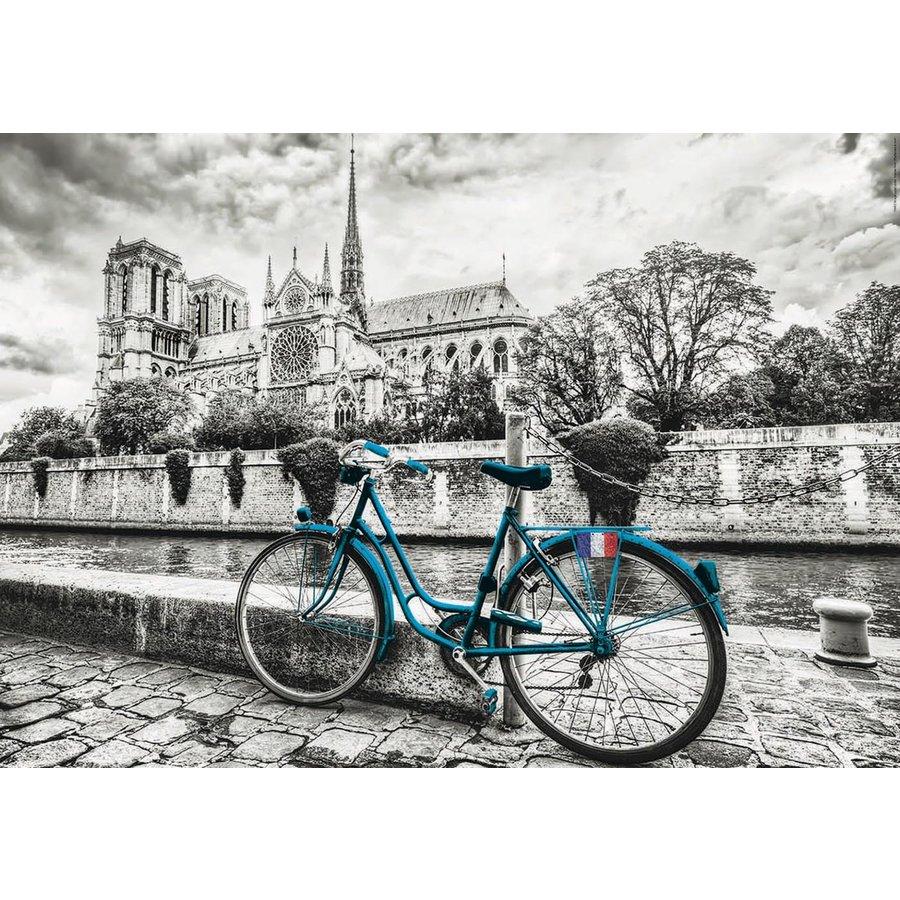 Bicyclette près de Notre Dame - puzzle de 500 pièces-2