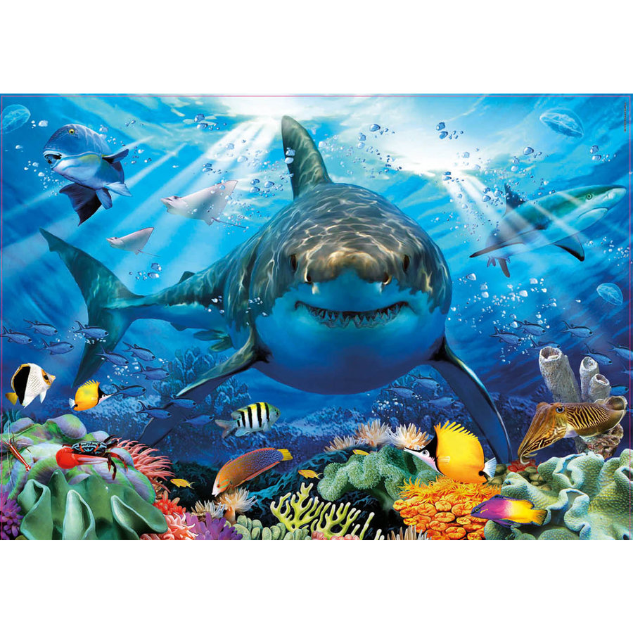 Grote witte haai  - legpuzzel van 500 stukjes-2