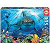 Educa Grote witte haai  - legpuzzel van 500 stukjes
