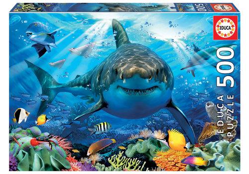 Educa Great White Shark - 500 pieces