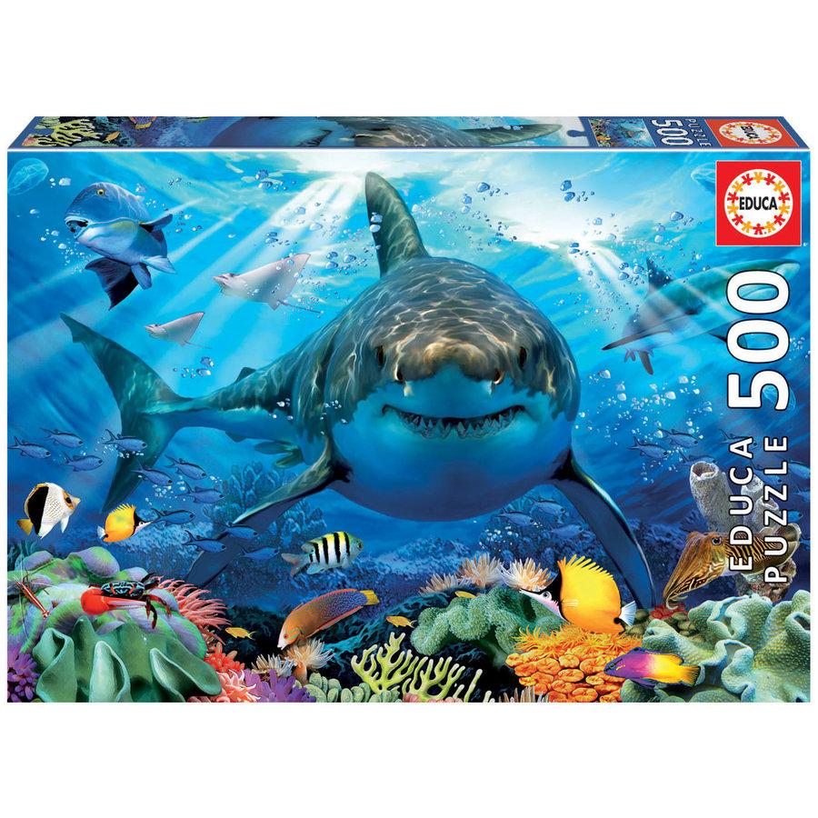 Grote witte haai  - legpuzzel van 500 stukjes-1