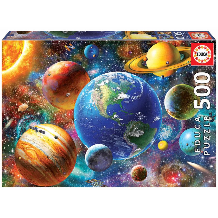 Zonnestelsel - legpuzzel van 500 stukjes-1