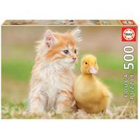 thumb-Adorables amis - puzzle de 500 pièces-1